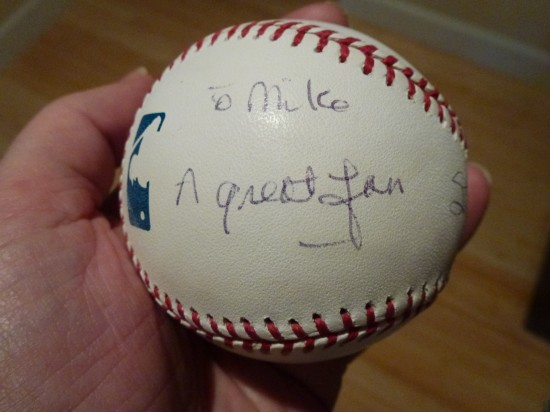 Stan Musial autographed baseball