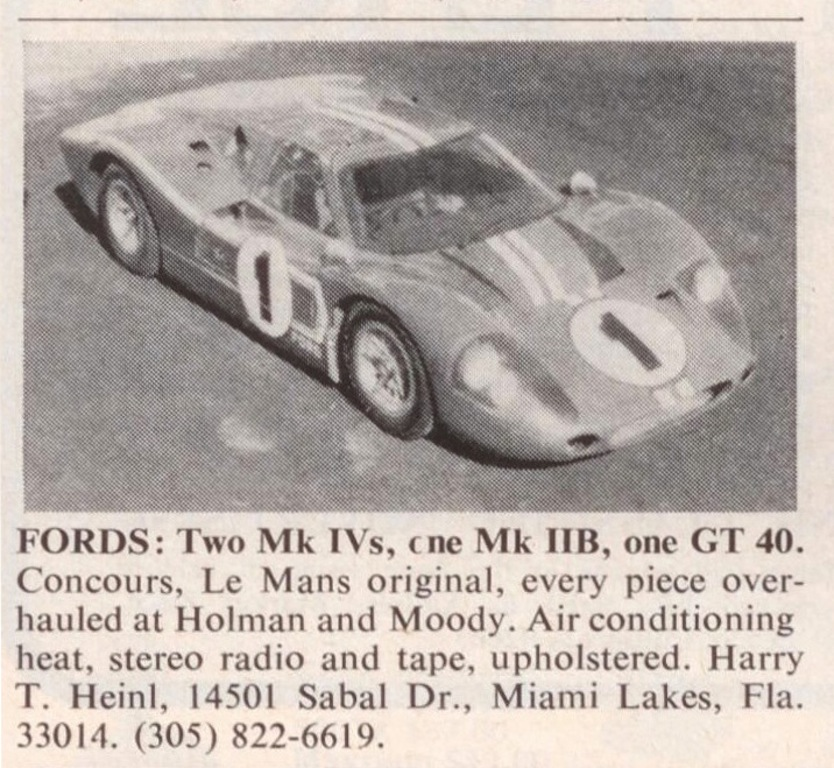Ford Gt  Classified Ad