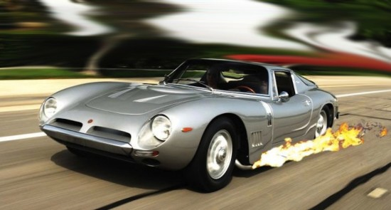 Flames From a Bizzarrini GT 5300 Strada