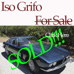 Iso Grifo For Sale – SOLD!!!