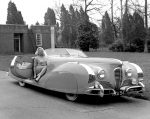 Diana Dors and her 1949 Delahaye Type 175 Roadster